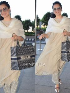 Kangana Ranaut rocks her desi airport look with a Christian Dior bag worth Rs 2 lakh; See PHOTOS