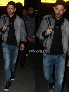 PHOTOS: Hrithik Roshan looks handsome as he dons a cool jacket with jeans and makes a splash at the airport