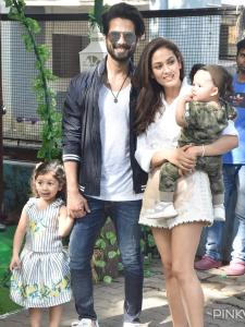 When Shahid Kapoor and Mira Rajput along with Misha and Zain Kapoor posed for the perfect family snap
