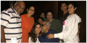 Photos: Sridevi rings in husband Boney Kapoor's birthday in Chennai with Jhanvi Kapoor-Khushi Kapoor and others