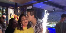 Karan Johar's mother Hiroo gives a birthday speech as her son gets busy chatting with others; Watch