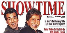 Amitabh and Ronit on SHOWTIME Mag and scan