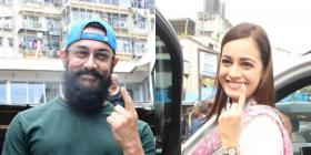 Maharashtra Assembly Polls 2019: Aamir Khan, Madhuri Dixit, Dia Mirza make their vote count; See Pics