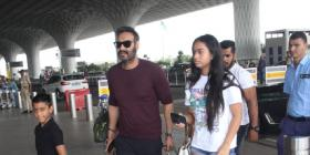 PHOTOS: Ajay Devgn gets spotted at the airport with kids Nysa and Yug; Check it out