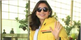 Anushka Sharma beams like sunshine in a yellow puffer jacket as she jets off from Mumbai airport; See PHOTOS