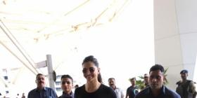 Deepika Padukone slays the classic black and blue look as she wraps up the Delhi schedule of Chhapaak; PICS