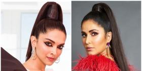 Deepika Padukone and Katrina Kaif opt for the SAME high ponytail; Who wore it better?