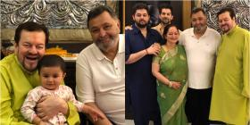 Rishi Kapoor celebrates Ganesh Utsav with Neil Nitin Mukesh & his family; See Pics
