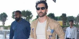 PHOTOS: Hrithik Roshan looks handsome as he dons a bomber jacket with jeans and makes a splash at the airport