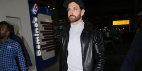 PHOTOS: Hrithik Roshan makes an uber cool statement in leather jacket & casuals as he returns to the bay