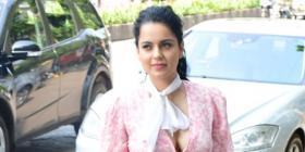 PHOTOS: Kangana Ranaut channels her inner flower child as she steps out in a pink & white floral dress