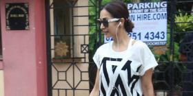 Malaika Arora rocks her gym look and we are obsessing over her neon pink shoes; See Photos