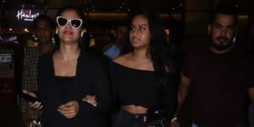 Airport Diaries: Kajol and Nysa Devgn are the perfect mother daughter duo as they twin in black