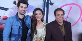 Pal Pal Dil Ke Paas: Dharmendra joins his grandson Karan Deol & Sahher Bambba for the trailer launch; See pics