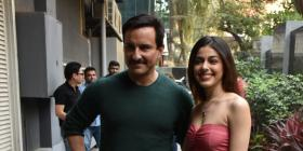 PHOTOS: Saif Ali Khan and Alaya F are all smiles while promoting Jawaani Jaaneman in the city