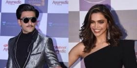 PHOTOS: Deepika Padukone slays in black outfit; Ranveer Singh sports a moustache at an event