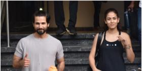 PHOTOS: Shahid Kapoor and Mira Rajput are all smiles as they exit the gym post a workout session