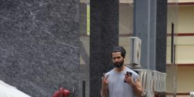 Shahid Kapoor is all set to sweat it out as he gets spotted outside the gym; View pics
