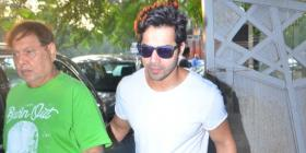 PHOTOS: Varun Dhawan takes a stroll with father David Dhawan on the streets of Mumbai