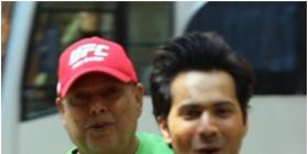 Varun Dhawan takes David Dhawan on a scooter ride on the sets of Coolie No 1 & wishes fans 'Good Morning'