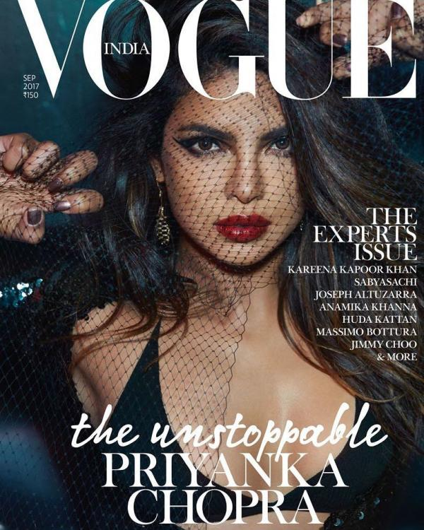 Image result for Priyanka Chopra is 'unstoppable' on the cover of Vogue magazine
