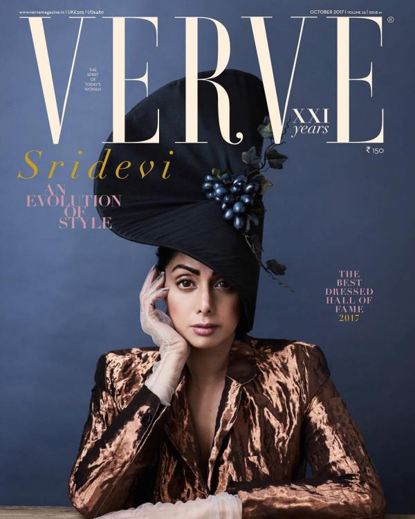 Sridevi Has Got Her Quirky Hat On For The Cover Of Verve