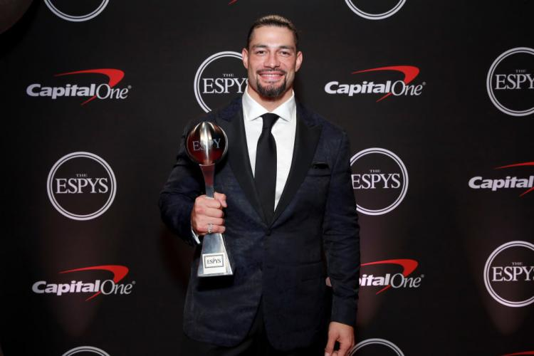 Roman Reigns was all suited-up to receive his Best WWE Moment award at the 2019 ESPYs.