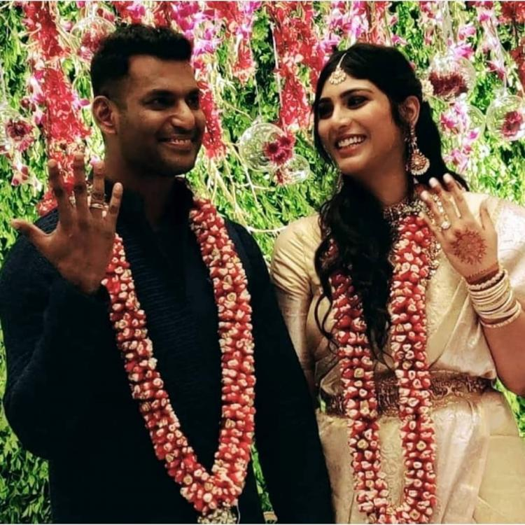 Vishal and Anisha Alla Reddy are all smiles as they get engaged in a private ceremony; See Photos