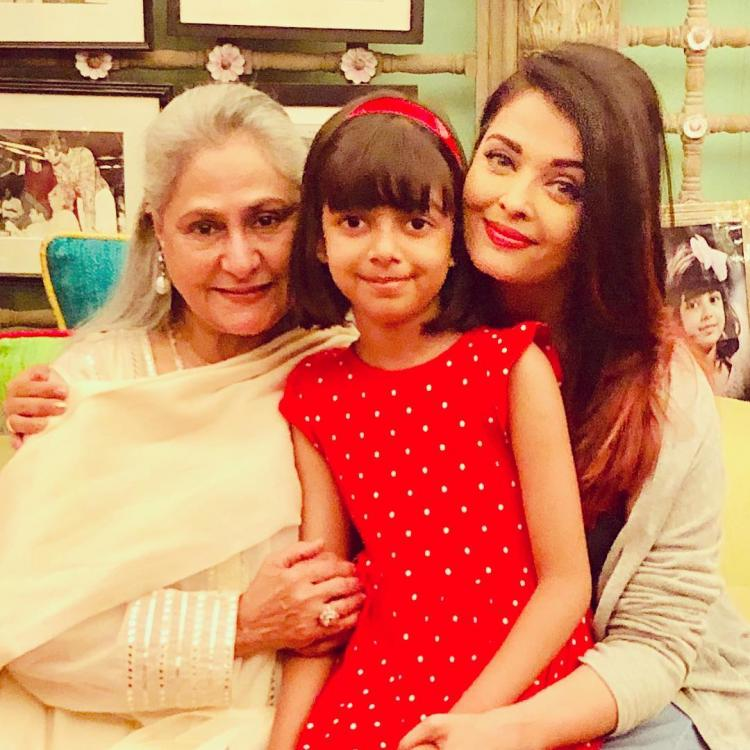 Aishwarya Rai Bachchan can't contain her happiness in this adorable picture with Jaya Bachchan and daughter Aaradhya