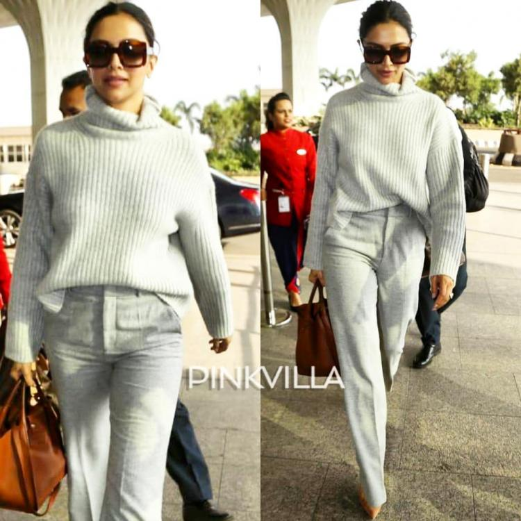 Deepika Padukone debuts her winter wardrobe and the all grey airport look is absolutely chic and comfy