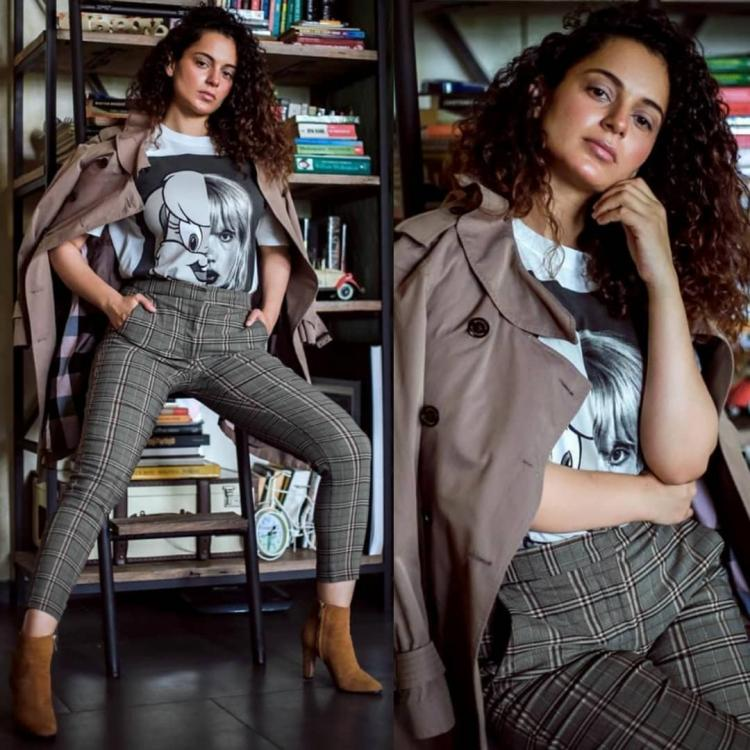 Kangana Ranaut's print on print style can be the perfect inspiration for your next college attire; Check it out
