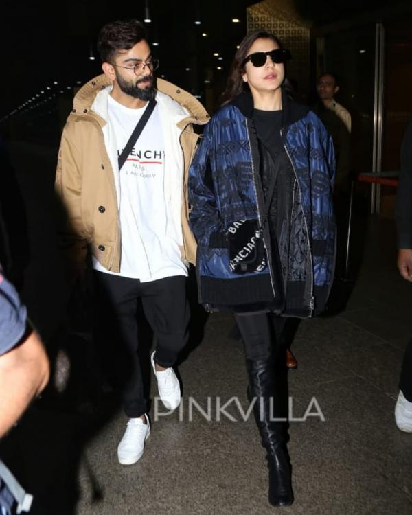 Anushka Sharma and Virat Kohli strut out of the airport in an ultra EXPENSIVE ensemble and we cannot keep calm