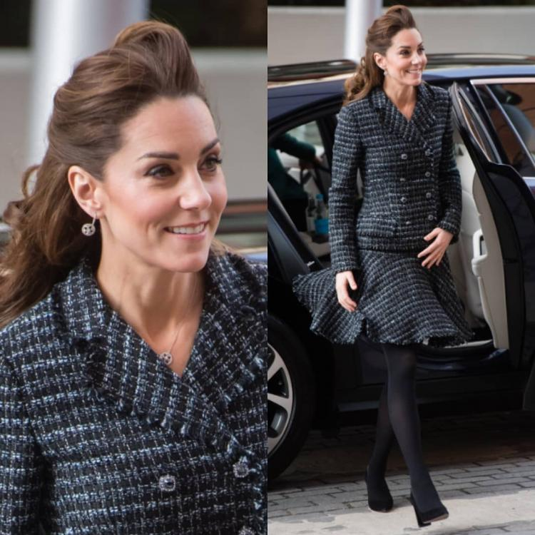 Kate Middleton in a Dolce and Gabbana outfit bails out on Princess Diana's sapphire engagement ring