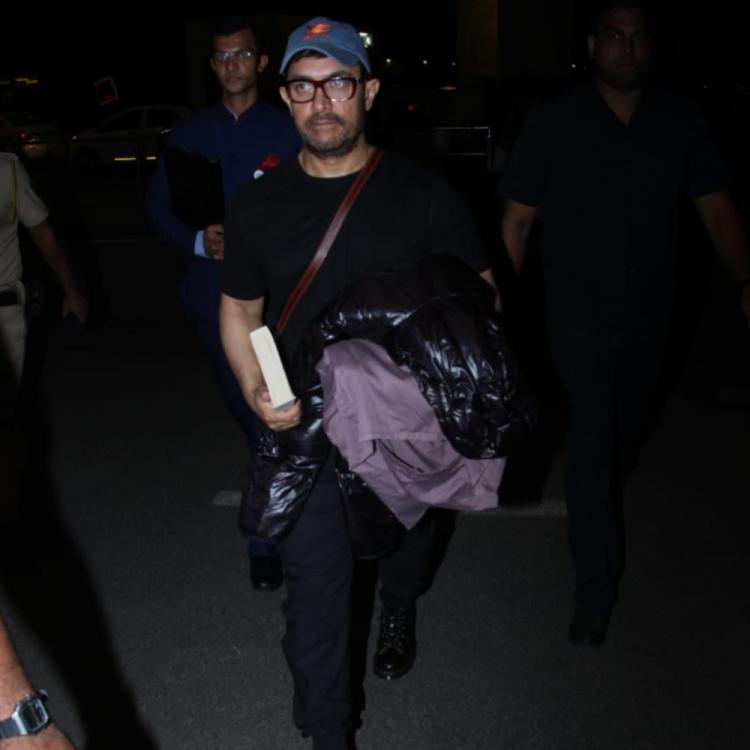 PHOTOS: Aamir Khan gets greeted by his fans at the airport