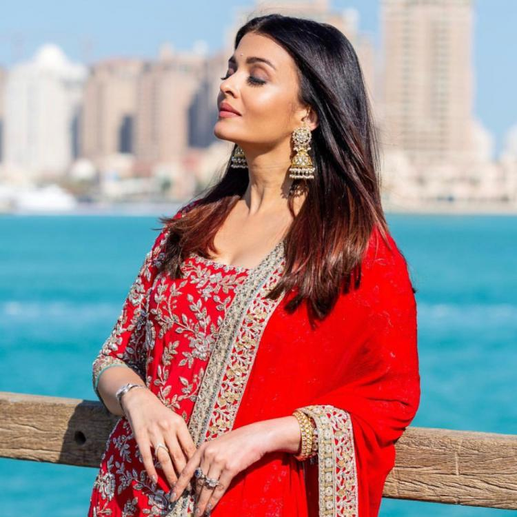 PHOTOS: Aishwarya Rai Bachchan dazzles in a red outfit as she gets snapped for an event