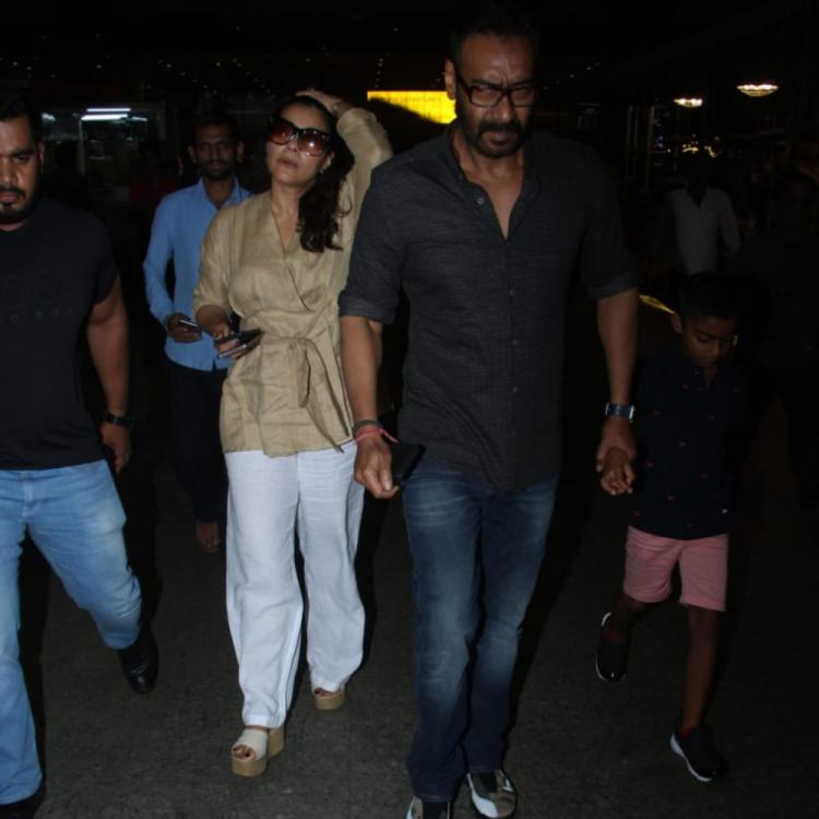 Airport Diaries: Ajay Devgn and Kajol arrive with their son Yug Devgn in the city