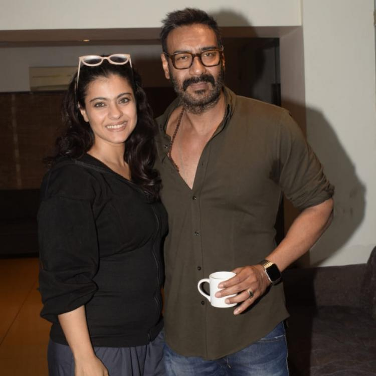 PHOTOS: Ajay Devgn snapped with wife Kajol at an event