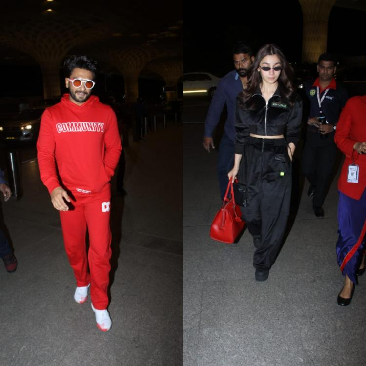 PHOTOS: Gully Boy duo Ranveer Singh & Alia Bhatt leave for Germany to attend Berlin Film Festival