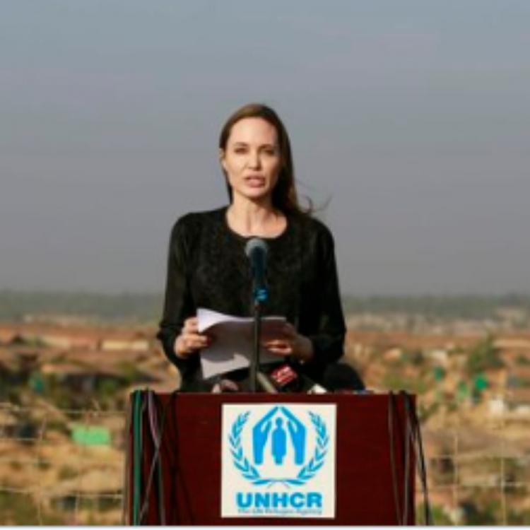 Angelina Jolie urges Myanmar to end it's violence against the Rohingya Muslims