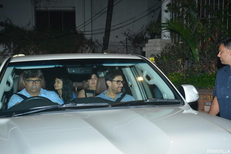 Photos: Aamir Khan arrives with ex wife Reena Dutta at Punit Malhotra's bash