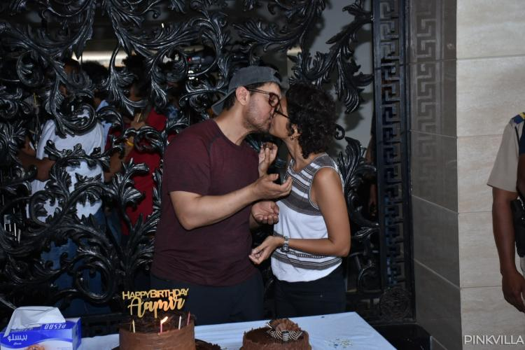 PHOTOS: Aamir Khan celebrates his birthday with wife Kiran Rao and seals it with a kiss