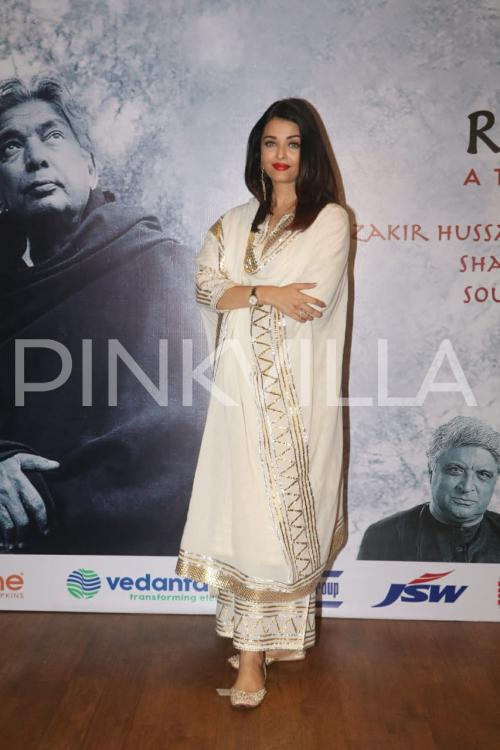 Photos: Aishwarya Rai Bachchan is a beauty in a golden attire at an event in Mumbai