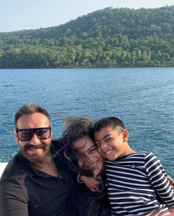 Ajay Devgn can't stop smiling looking at the picture of Nysa and Yug from their vacation album