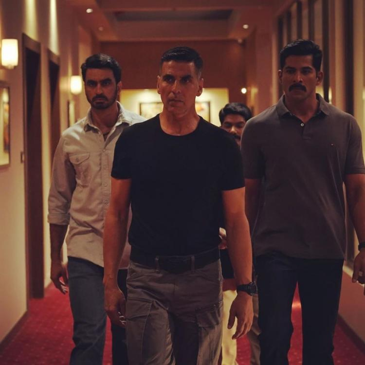 Akshay Kumar is all set to nip terrorism in the bud as Sooryavanshi with his team in this still from the film