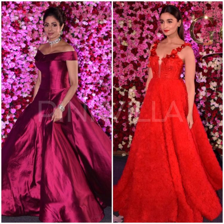 Photos: Alia Bhatt and Sridevi slay in gorgeous gowns on the red ...