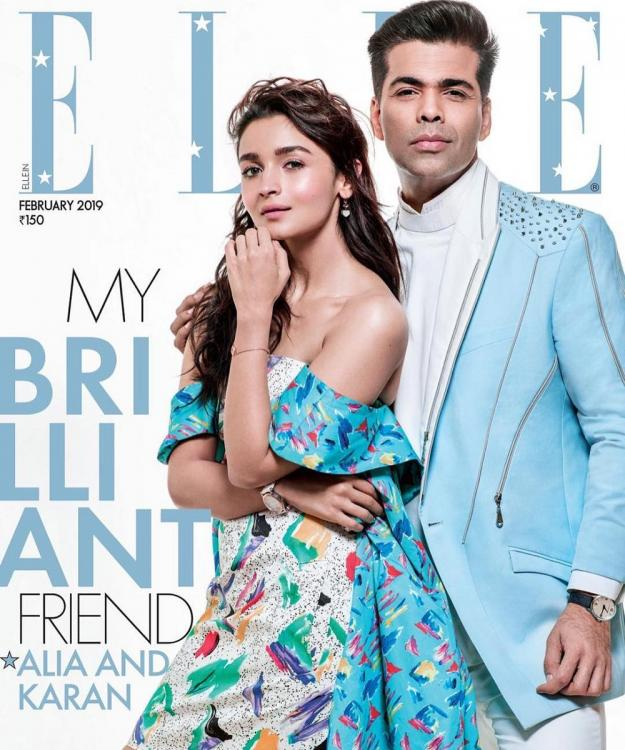 Alia Bhatt & Karan Johar are the 'brilliant' BFFs we wish we had and the cover of ELLE magazine is proof