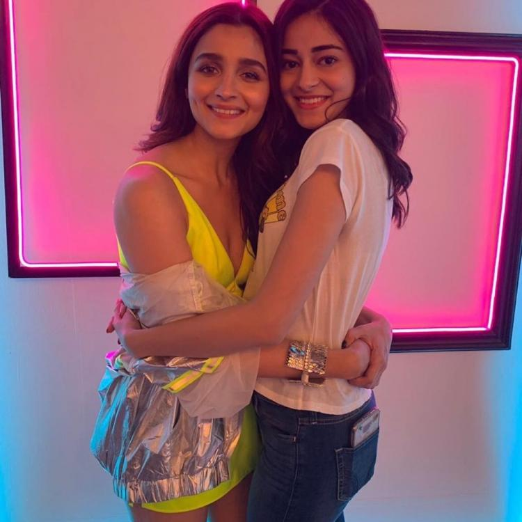 Alia Bhatt & Ananya Panday's cute pic from the shoot of SOTY 2's Hook Up Song is beyond adorable