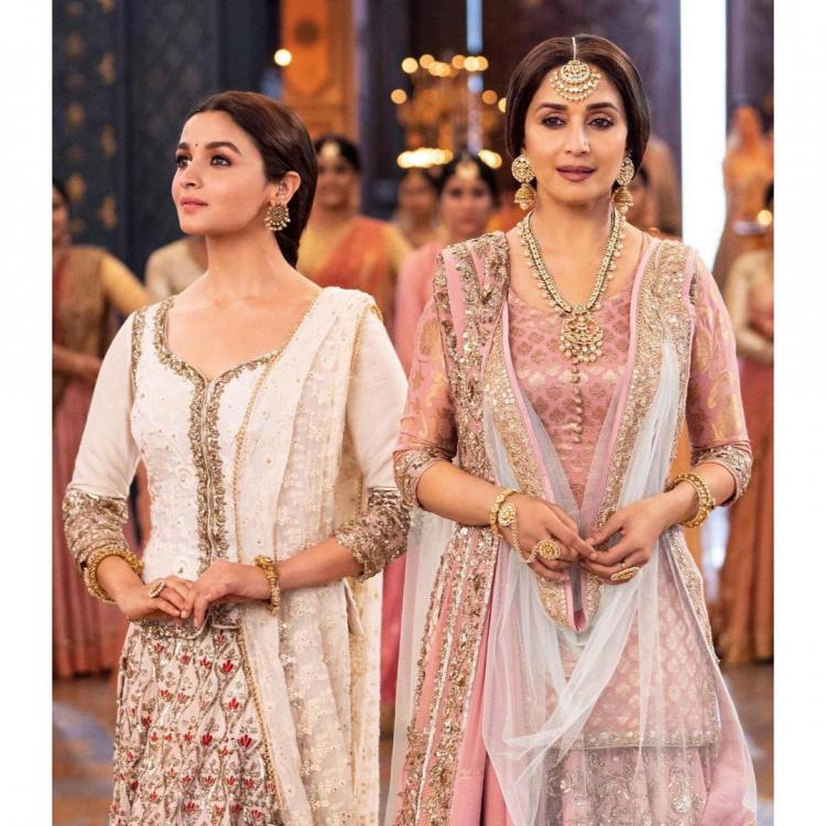 Kalank song Ghar More Pardesiya: Alia Bhatt exudes magic with Madhuri Dixit making for a magnificent watch