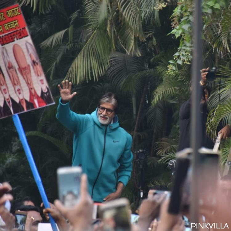 Photos: Amitabh Bachchan meets and greets his fans outside his house as a Sunday ritual