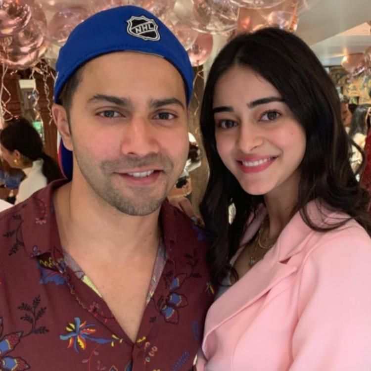 PHOTO: Ananya Panday cannot stop fangirling over Varun Dhawan at Sonam K Ahuja's birthday bash
